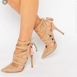 Miss Kg Alana Ghillie Heeled Shoes Tan